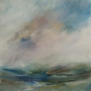 Lough Dan, Co Wicklow. Oil on Canvas. 80 x 80cm (SOLD)