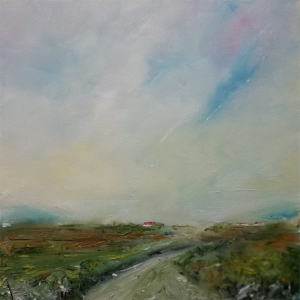 Road to Errlough. Oil on Canvas. 40x40cm