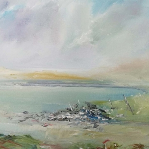 On Inishlacken, Connemara. Oil on Canvas. 40 x 40cm